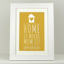 Load image into Gallery viewer, Home is where Mum is print