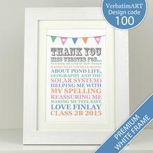 Load image into Gallery viewer, Personalised Thank You Teacher