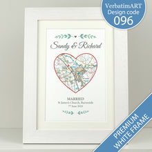 Load image into Gallery viewer, Personalised Special Place Heart Map