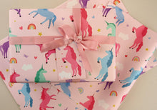 Load image into Gallery viewer, Unicorn Eco Wrapping Paper