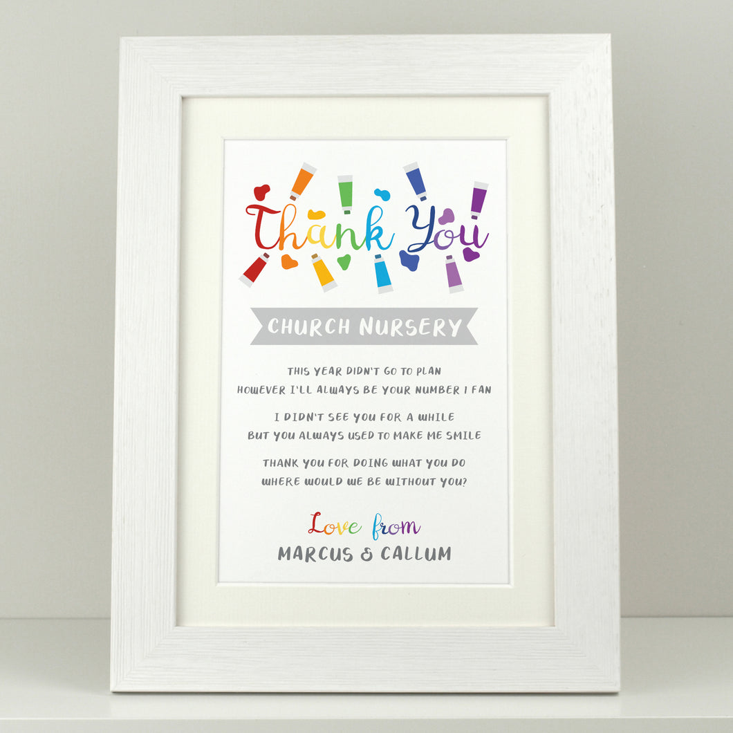Personalised Teacher Rainbow Thank You