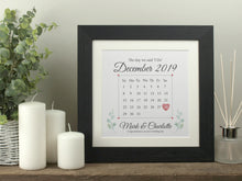 Load image into Gallery viewer, Personalised Wedding Calendar