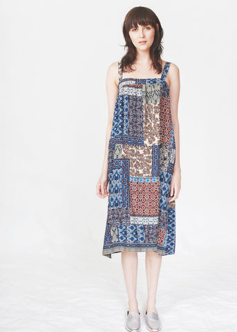 Dagg & Stacey Salma Dress. Printed knee-length dress with side seam pockets.