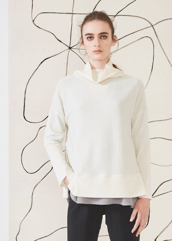 Dagg & Stacey Callum Sweatshirt.  Relaxed fit ivory turtleneck.