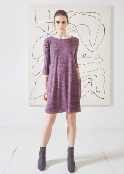 Dagg & Stacey Ennis Dress.   Purple dolman sleeve swing dress.