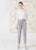 Dagg & Stacey Madigan Pant.  Light grey peg leg pant with elastic waist.