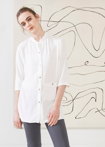 Dagg & Stacey Tiernan Shirt.  Oversized white button up shirt.