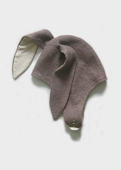 Bunny ears winter wool hat childrens fashion
