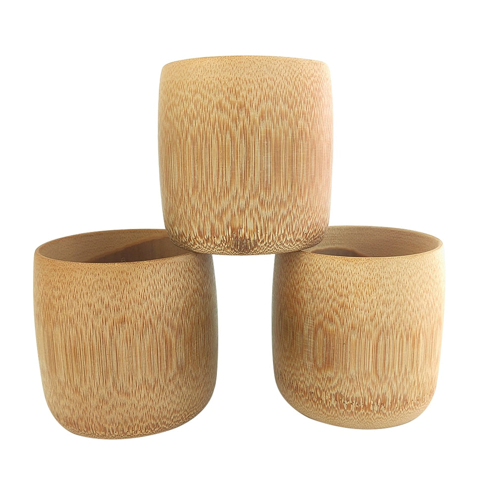 Japanese style, handmade Bamboo cups