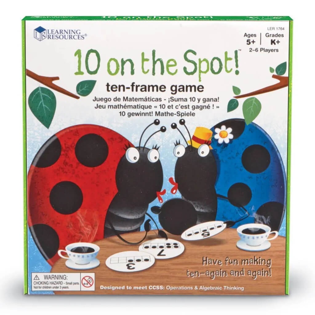 10 On The Spot Ten-Frame Addition Bingo Game - Steam Rocket