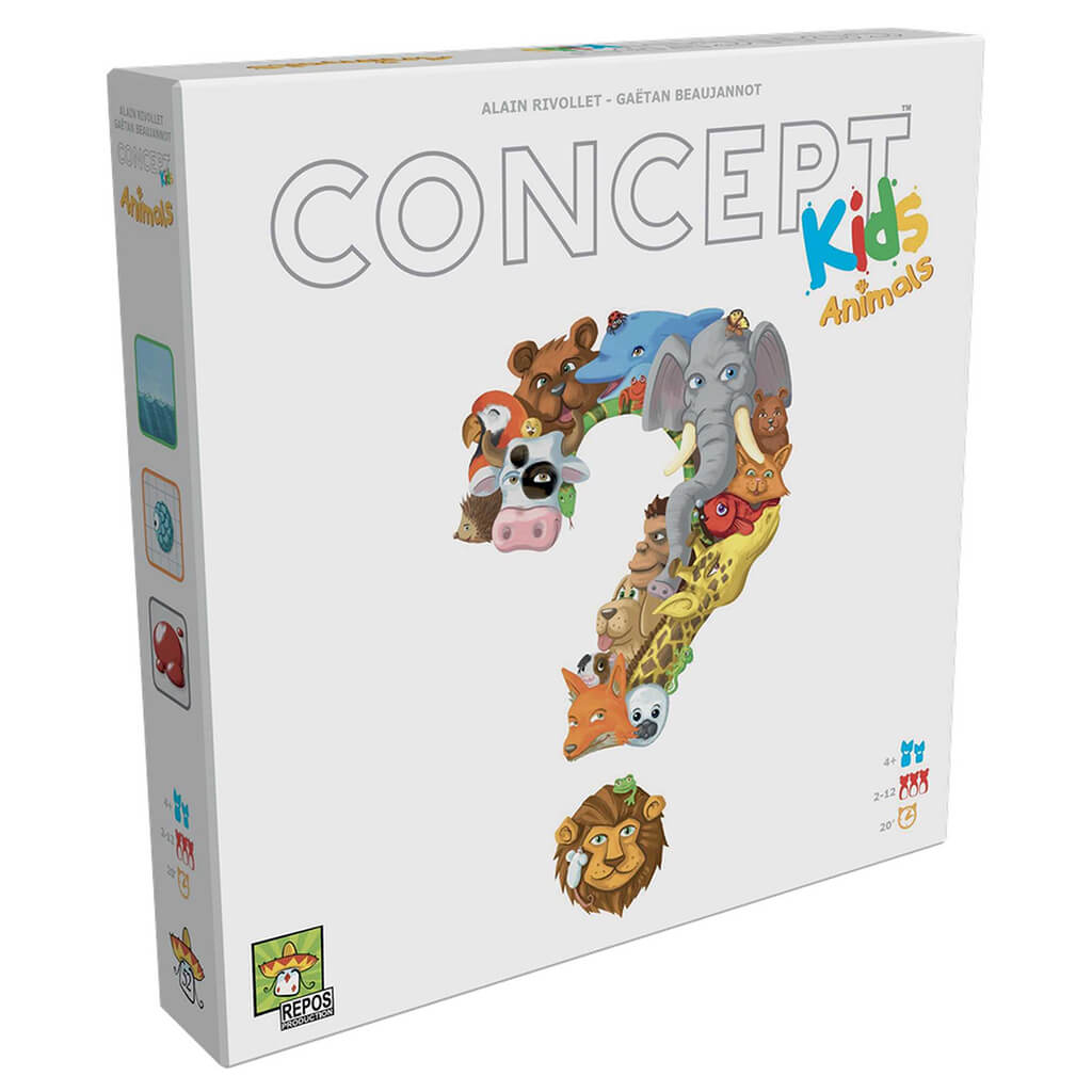 Concept Kids: Animals Cooperative Board Game - Steam Rocket