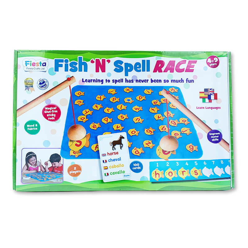 Fish 'N' Spell Race Game - Steam Rocket