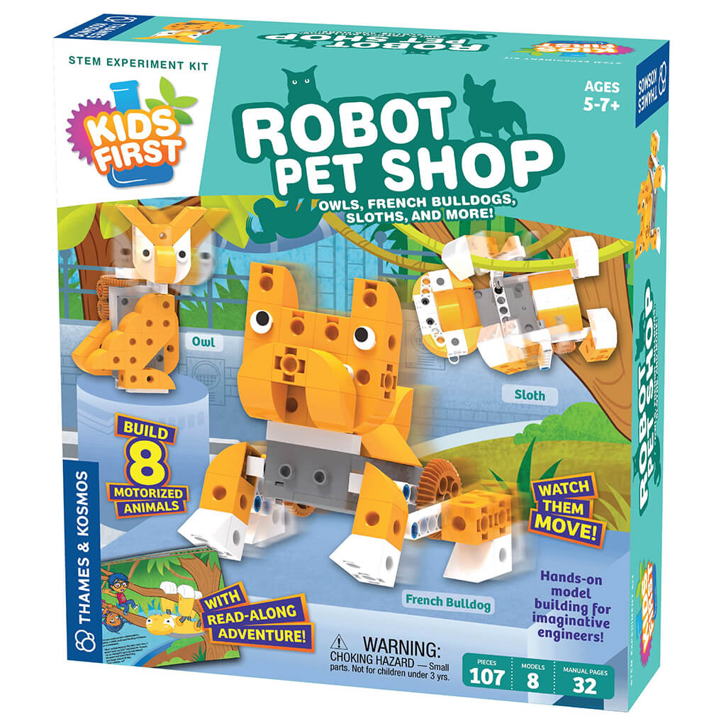 Robot Pet Shop Construction Kit by Kids First - Steam Rocket