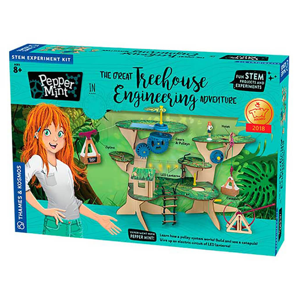 Pepper Mint: Great Treehouse Engineering Adventure STEM Experiment Kit - Steam Rocket