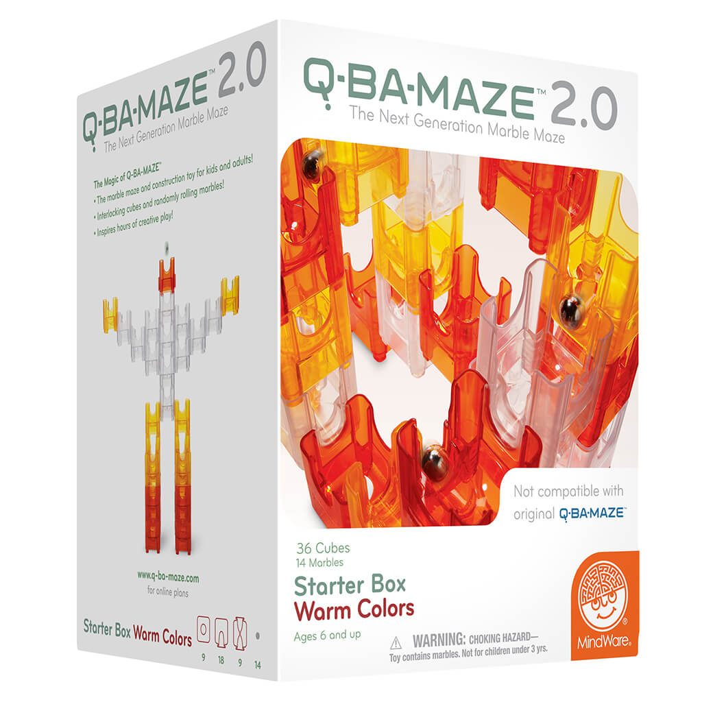 Q-BA Maze 2.0 Marble Run Starter Box - Steam Rocket