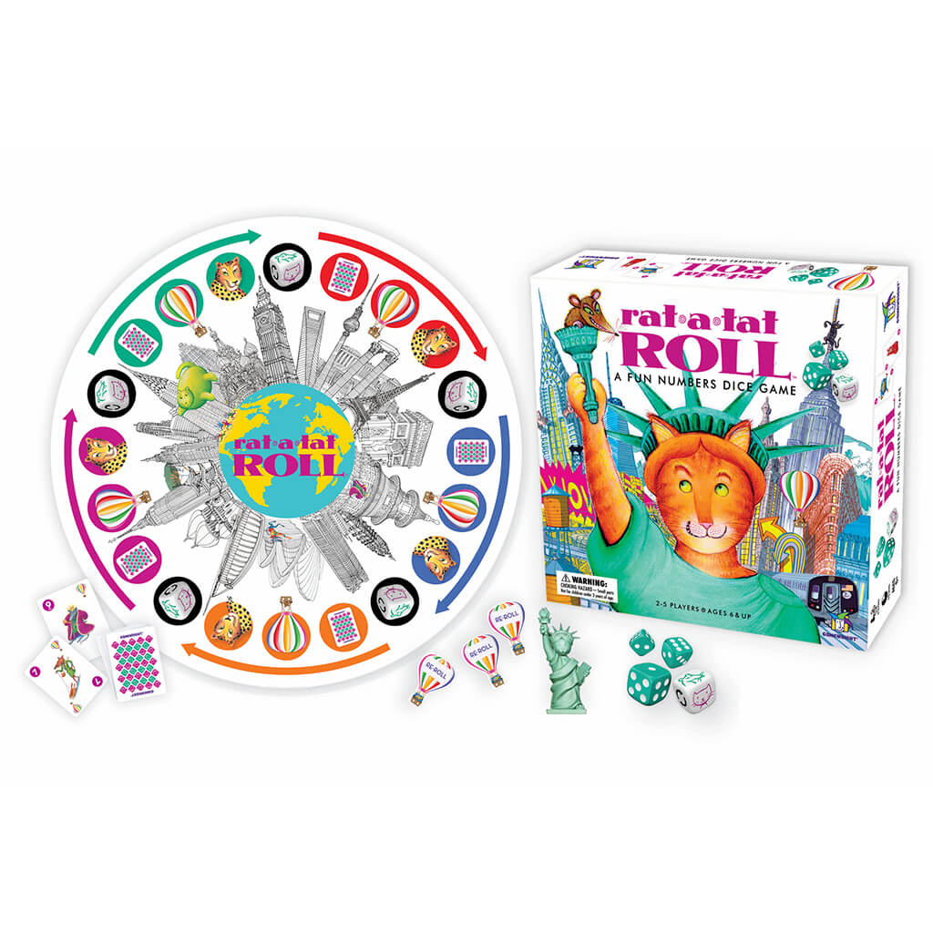 Rat-a-Tat Roll Board Game - Steam Rocket
