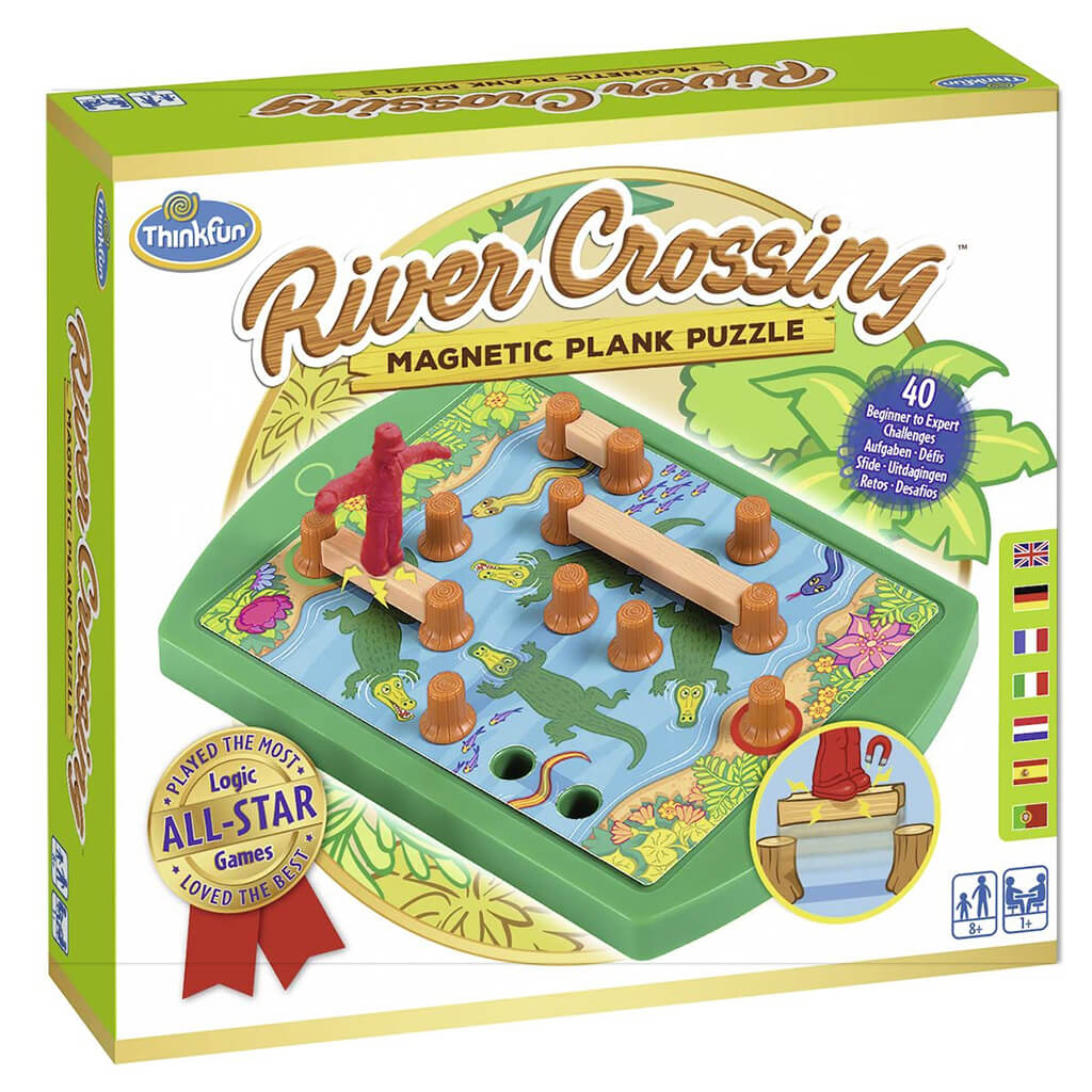 River Crossing Magnetic Logic Puzzle Game - Steam Rocket