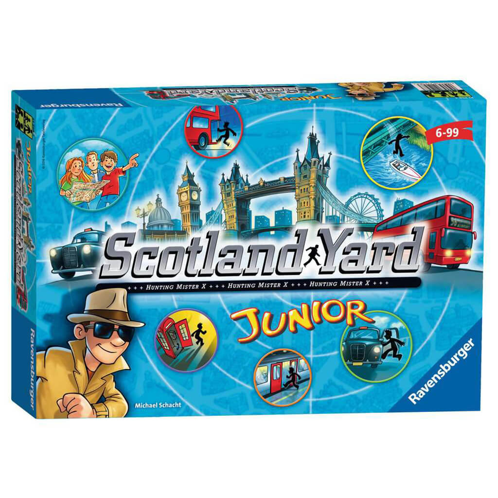 Scotland Yard Junior Strategic Board Game - Steam Rocket