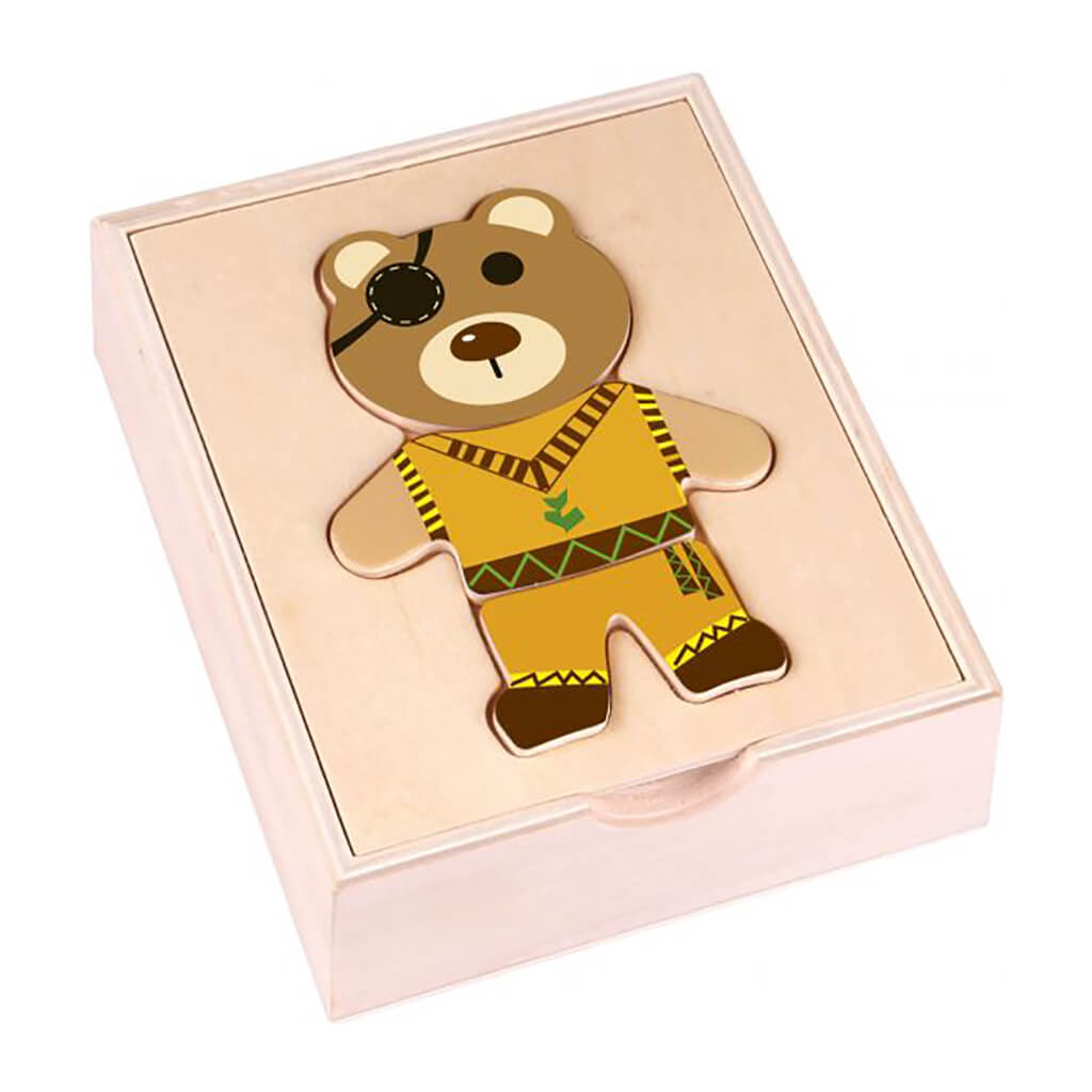 Dress Up Bear Wooden Toy - Steam Rocket