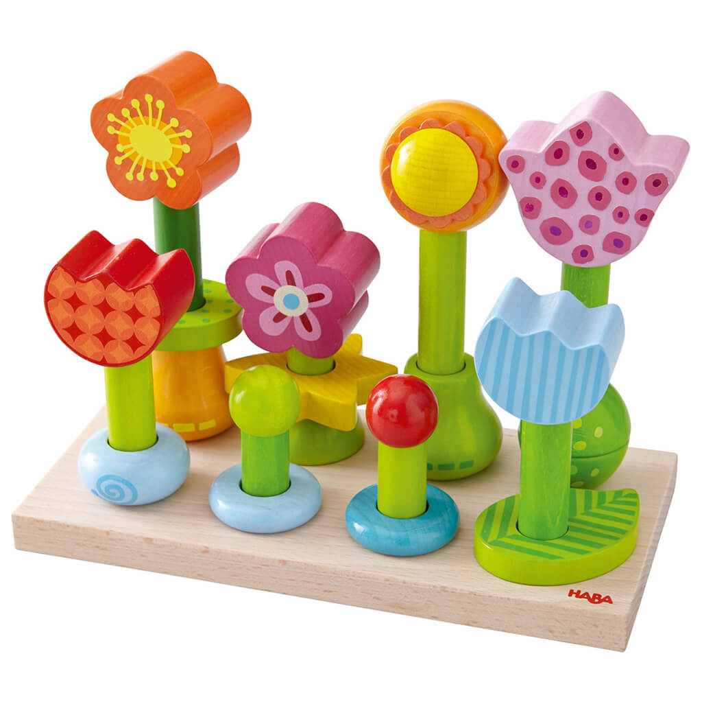 Flower Garden Pegging Game Wooden Toy - Steam Rocket