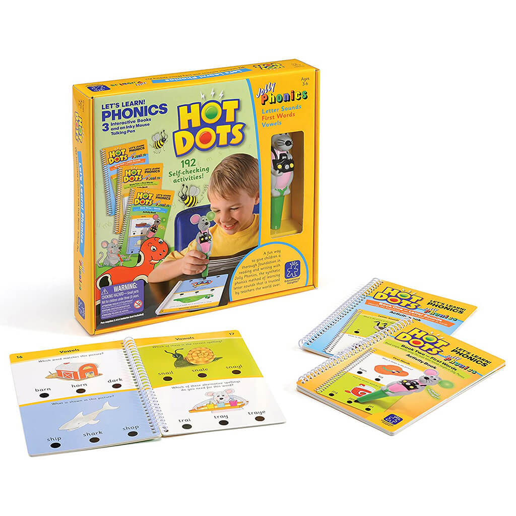 Hot Dots Let's Learn Jolly Phonics Set - Steam Rocket