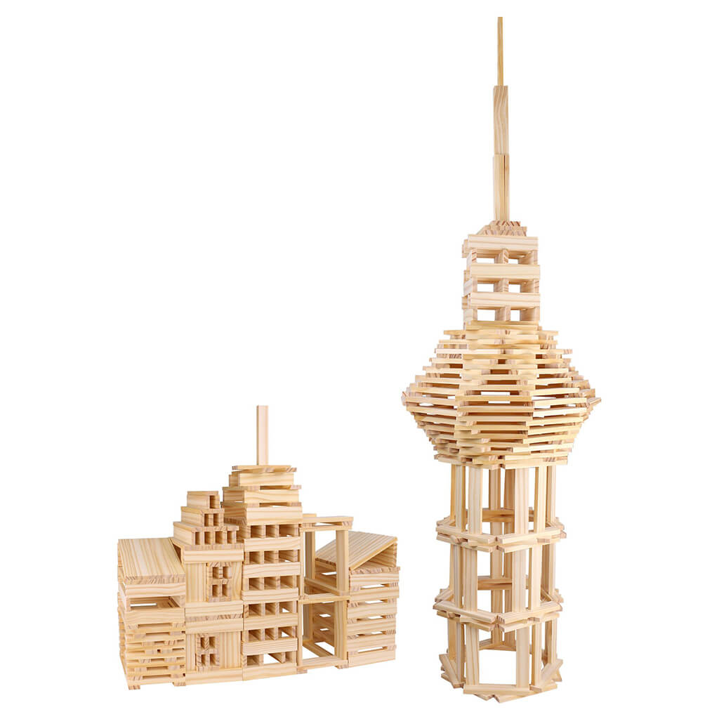 Wooden City Building Blocks - Steam Rocket