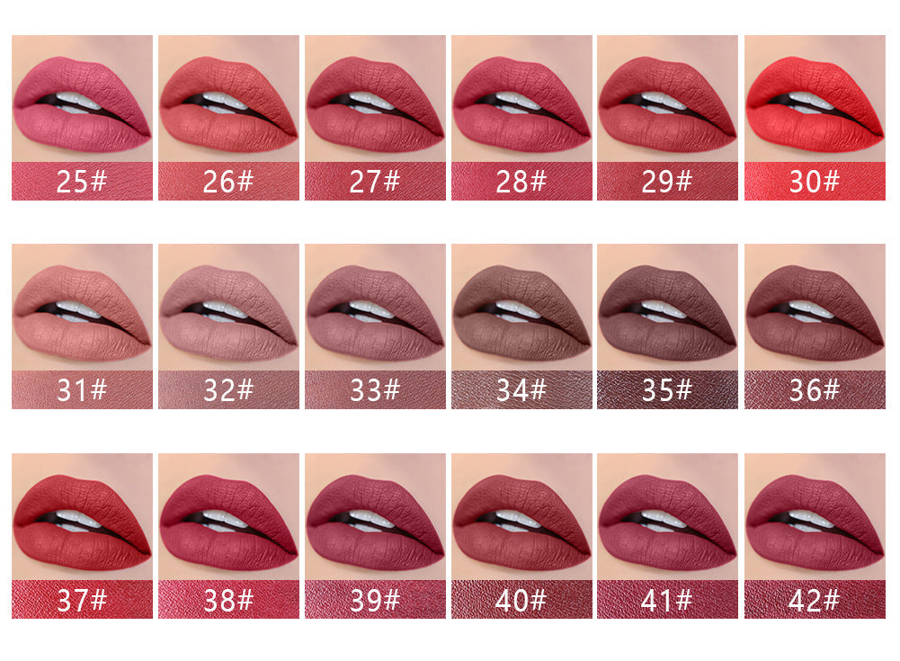 Miss Rose Lipstick Makeup Professional Matte Lipsticks Waterproof Long Lasting Gloss Lips Sexy Matte Velvet Lipsticks Beauty Make Up Tools