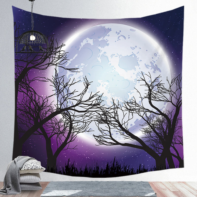 Moon Tapestry Bohemian Super Soft Wall Cloth Tapestry Night Sky Background Cloth