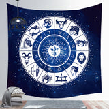 Wholesale Custom Starry Sky Horoscope Astrolabe Tapestry Home Decoration Background Wall Hanging Cloth Square Tapestry