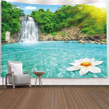 Waterfall Tapestry Wall Hanging Tapestry Wall Backdrop Room Decoration Wall Cloth