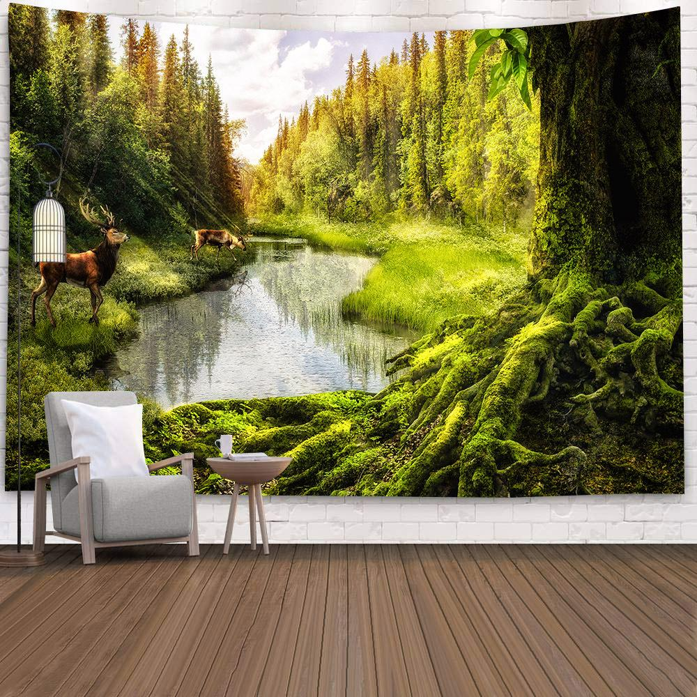 Forest Tapestry Wall Hanging Tapestry Wall Backdrop Room Decoration Wall Cloth