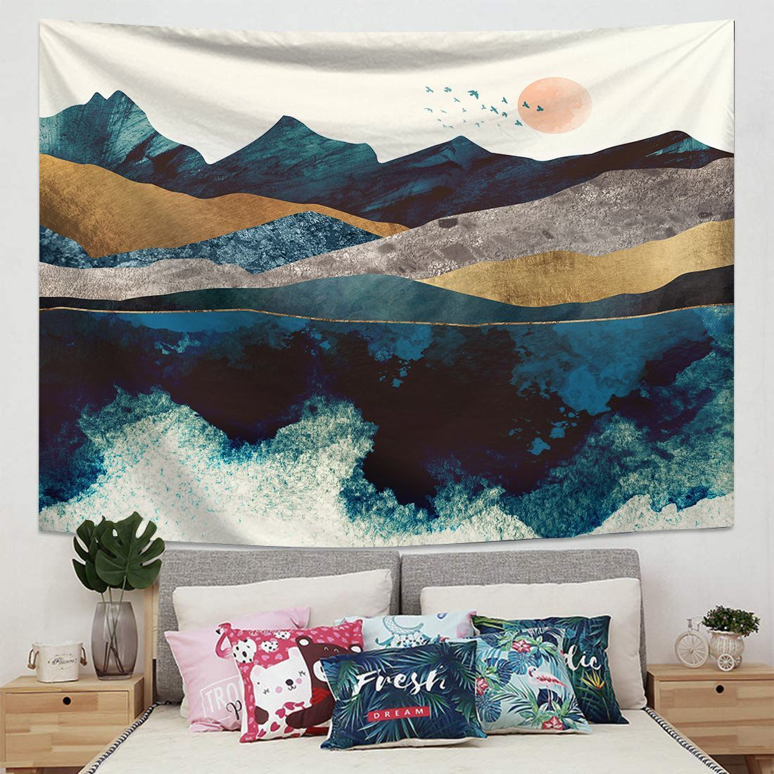 Wall Hanging Tapestry Wall Backdrop Room Decoration Tapestry Wall Background