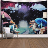 Psychedelic Tapestry Mushroom Tapestry Wall Hanging Tapestry Wall Backdrop Room Decoration Tapestry Trippy Tapestry