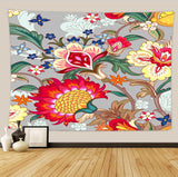 Flower Tapestry Wall Hanging Tapestry Wall Backdrop Room Decoration Tapestry