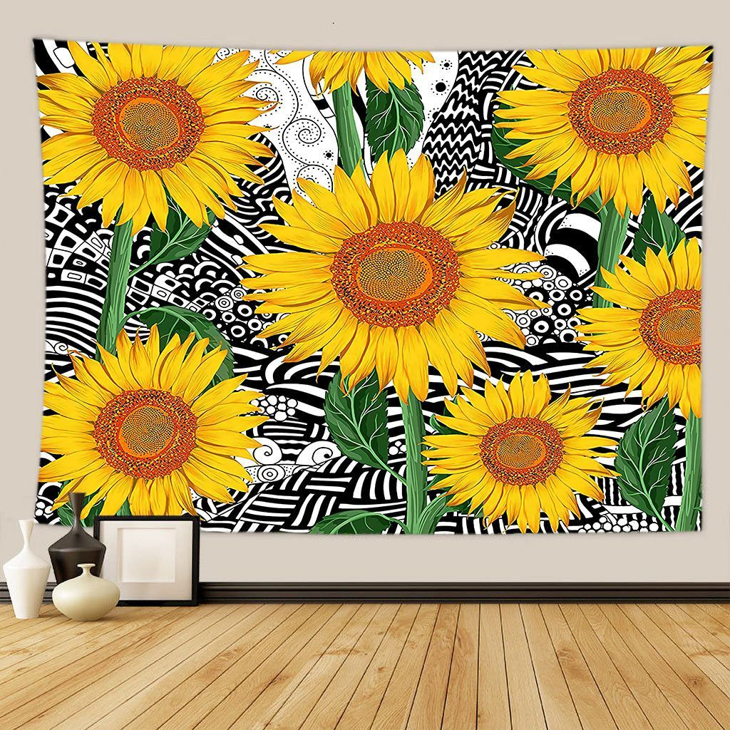 Sunflower Tapestry Flower Tapestry Wall Hanging Tapestry Wall Backdrop Room Decoration Tapestry