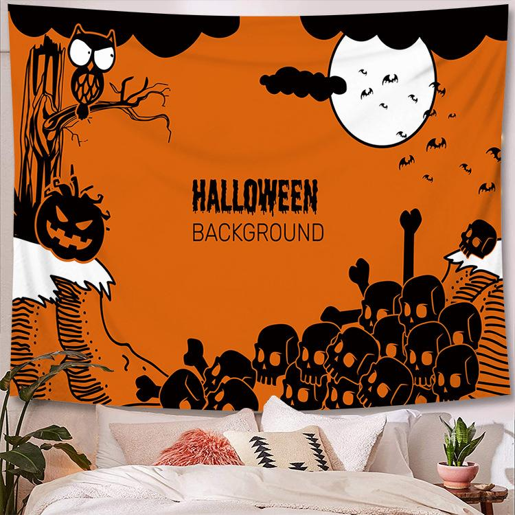 Halloween Tapestry Wall Hanging Tapestry Halloween Decoration Tapestry Wall Backdrop