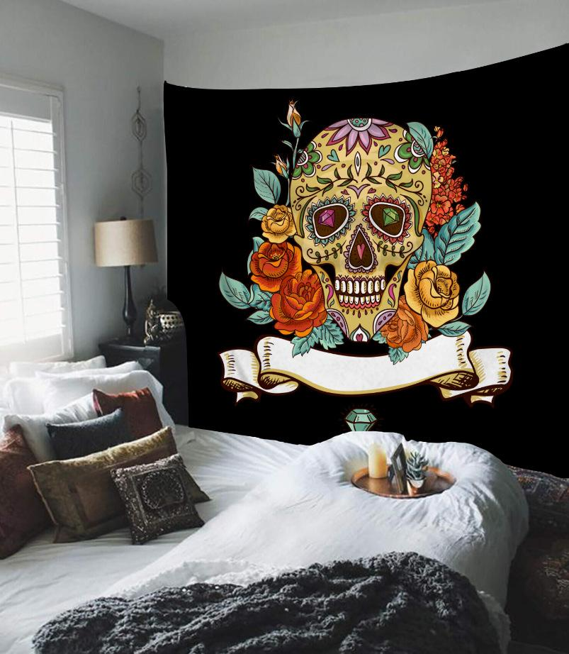 Colorful Skull Tapestry Wall Hanging Tapestry Wall Backdrop Room Decoration Wall Cloth