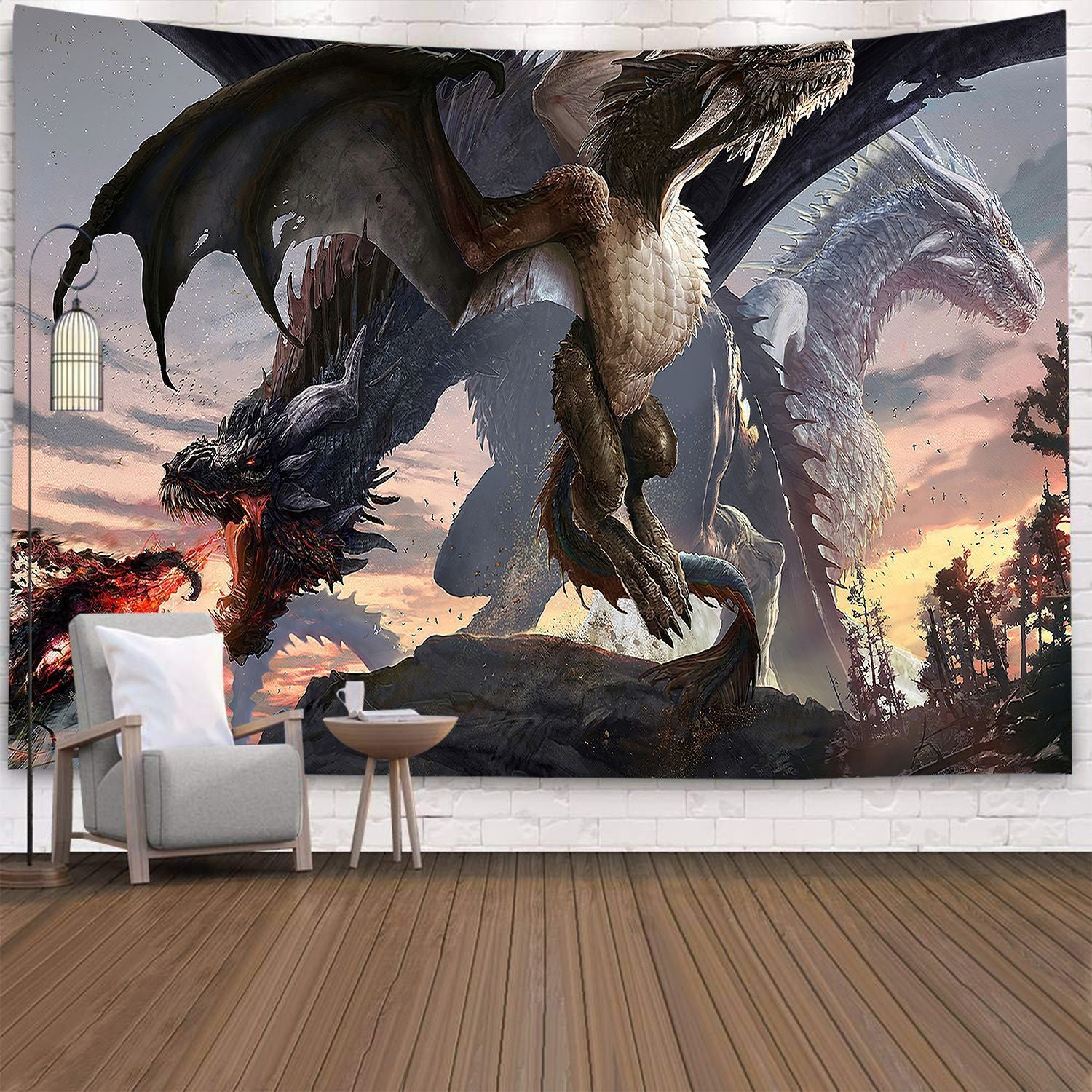 Dragon Tapestry Wall Hanging Tapestry Wall Backdrop Room Decoration Tapestry