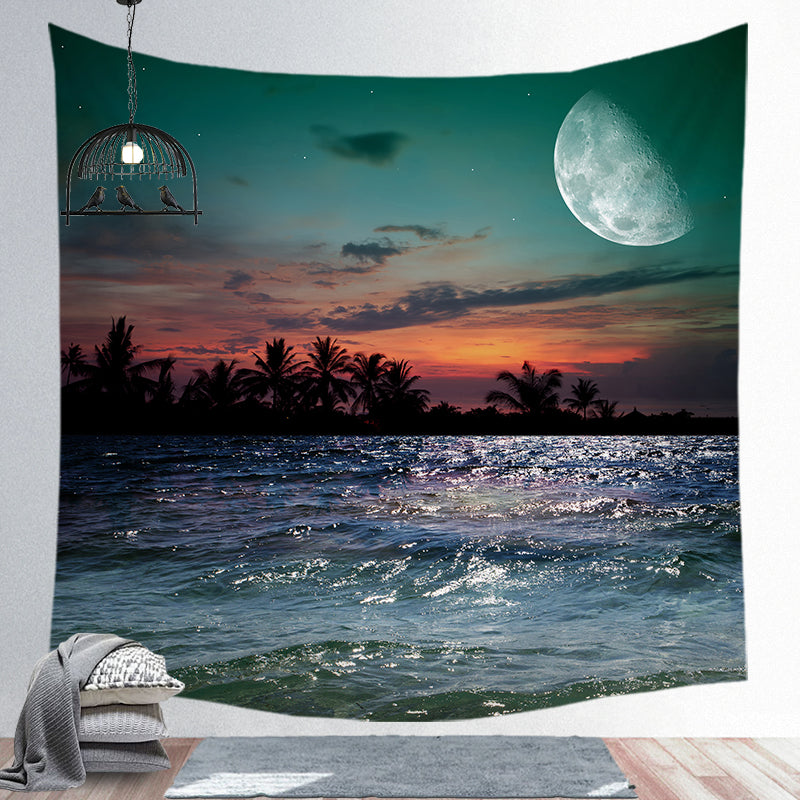 Custom Moon Bohemian Series Super Soft Wall Cloth Tapestry Cloth Night Sky Background Cloth CGT003-21-39