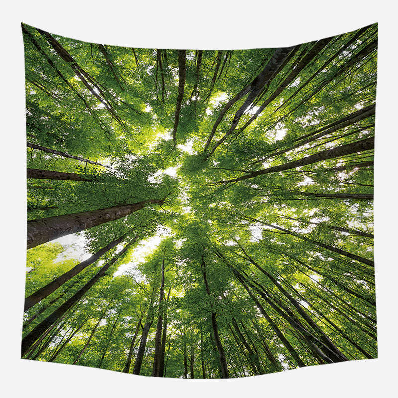Wholesale Custom Nordic Style Maple Forest Hanging Cloth Tapestry Cloth Night Sky Background Cloth Bohemia