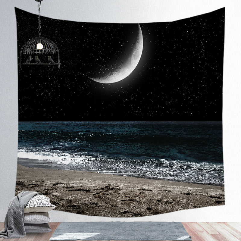Custom Moon Bohemian Series Super Soft Wall Cloth Tapestry Cloth Night Sky Background Cloth