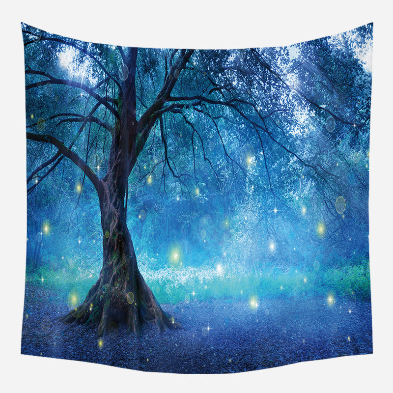 Wholesale Custom Nordic Style Maple Forest Hanging Cloth Tapestry Cloth Night Sky Background Cloth Bohemia CGT006