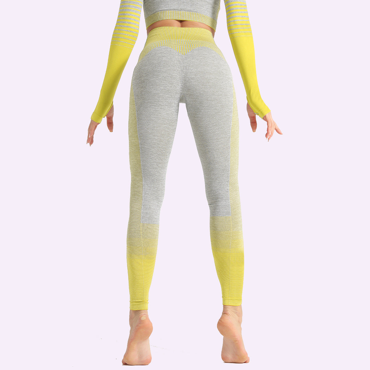 2020 Women Stripe Sports Pants High Elasticity Hip Lift High Waisted Leggings Pants Yoga Pants YS-018