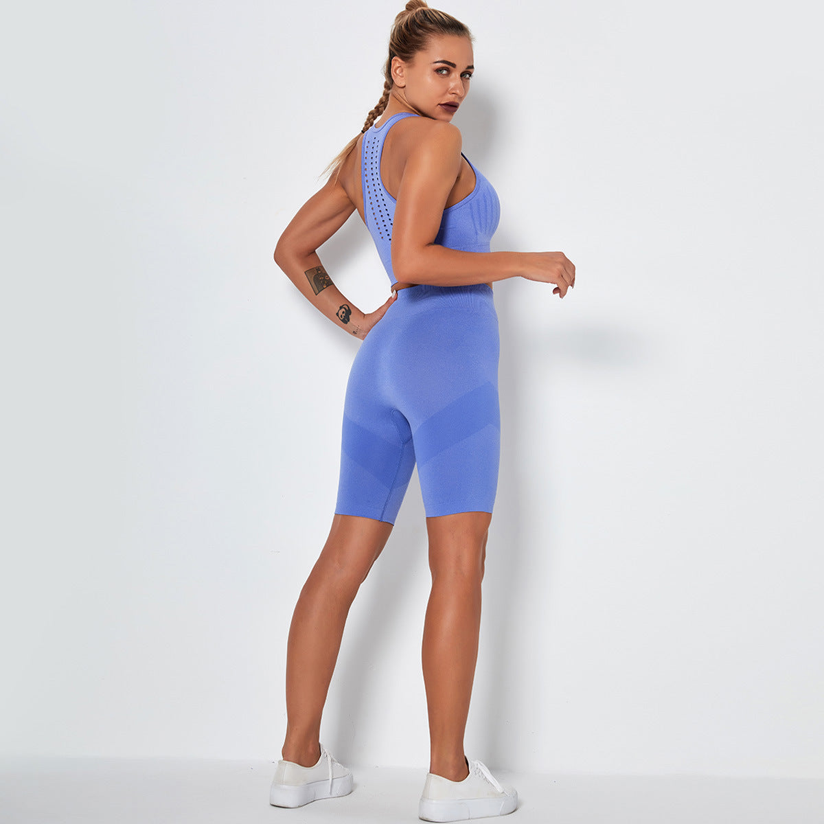 2020 Women Seamless Sexy Slim Yoga Suit Sports Bra Suit Running Suit Fitness Suit YS-051