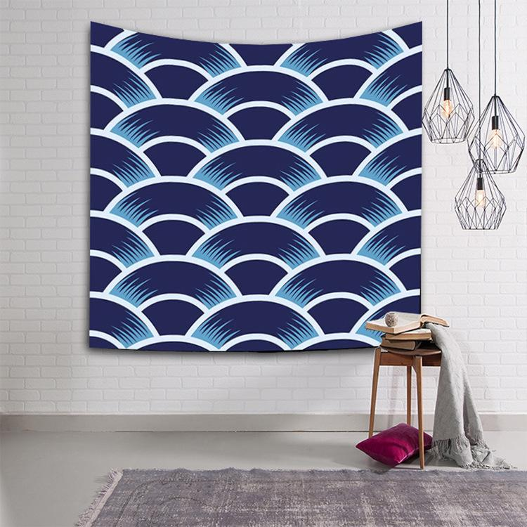 Wave Tapestry Wall Hanging Tapestry Wall Backdrop Room Decoration Tapestry