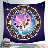 Twelve Constellations Astrology Tapestry Home Decoration Background Wall Hanging Cloth Square Tapestry