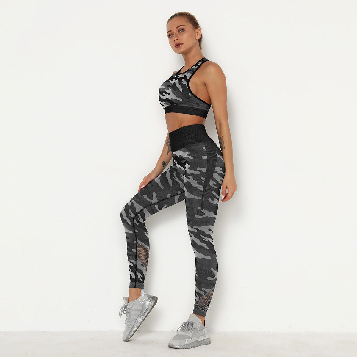 2020 Women Camouflage Hip Lift High Waisted Leggings Activewear High Elasticity Yoga Suit YS-010