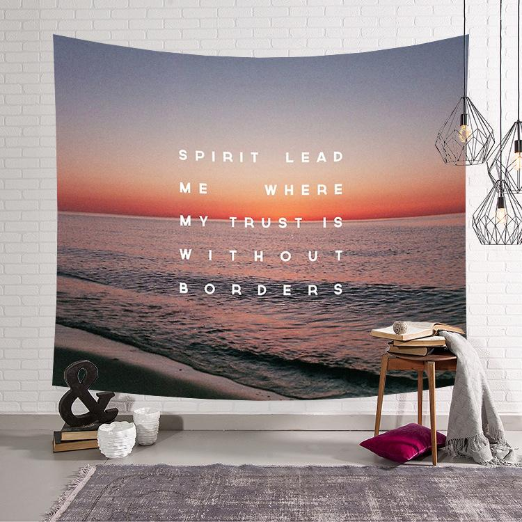 Bedroom Decoration Wall Cloth Nordic Style Tapestry Beach Wave Wall Cloth Seaside Tapestry