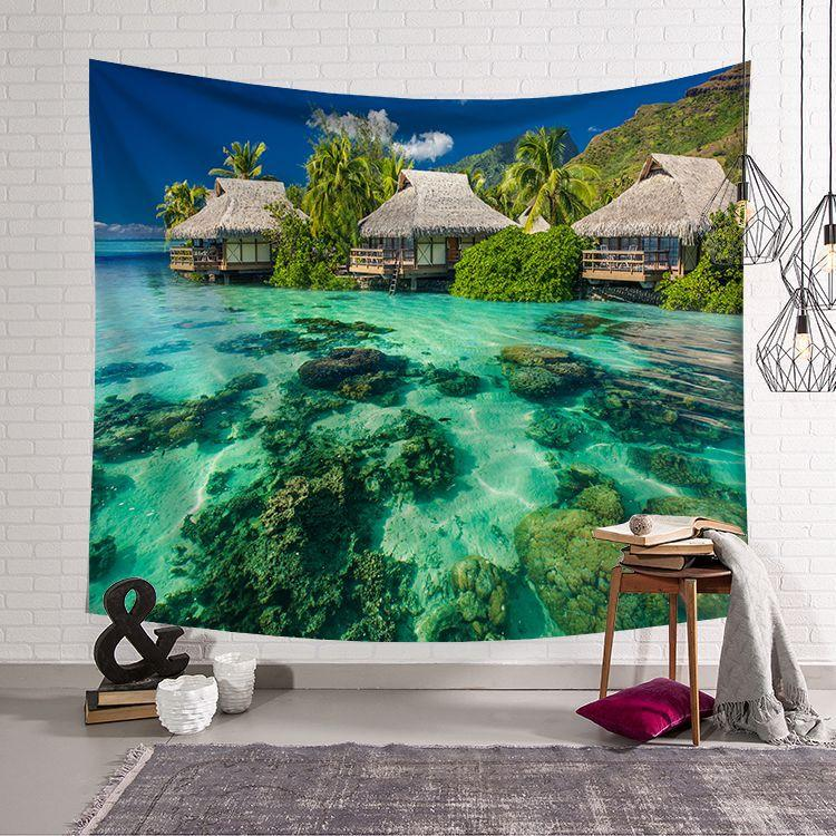 Sea Tapestry Wall Hanging Cloth Sea Tapestry Room Decoration Tapestry