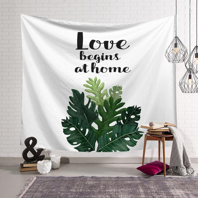 Plant Tapestry Wall Hanging Tapestry Wall Backdrop Bedding Room Decoration Tapestry